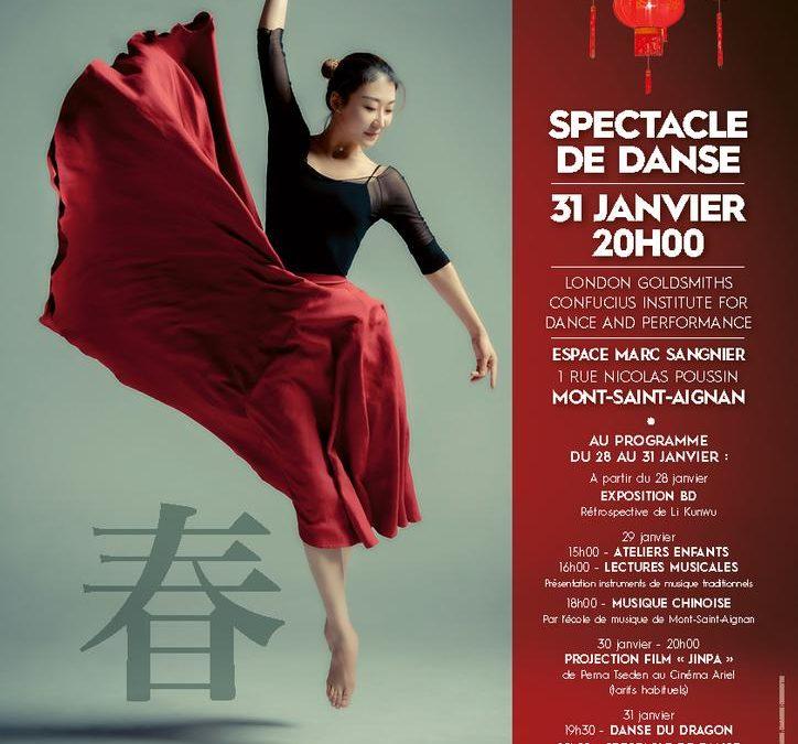 Nouvel an chinois – danse du dragon et spectacle de danse à Rouen